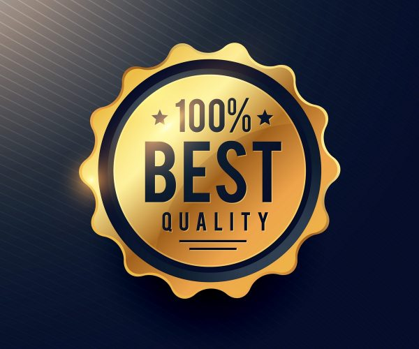 realisitc best quality luxury golden label for your brand advertising